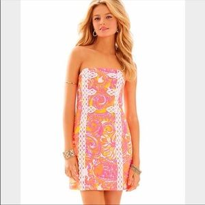 Lilly Pulitzer Strapless Tansy Dress Size 0